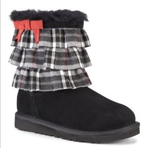 UGG | Eloise Plaid Ruffle Ugg Boots | 10